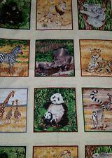 LINED VALANCE 42X13 SAFARI JUNGLE HIPPO ZEBRA KOALA PANDA LEMUR LION GORILLA