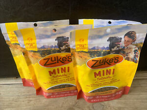 (4 Pack) Zukes Mini Treats Moist Roasted Chicken Recipe Dog Training Treats 6 oz