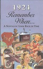 93rd Birthday Remember When Book 1924