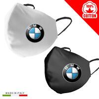 Mascherina Mascherine Personalizzata BMW Auto 100%Cotone adulto bambino