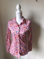 Love Moschino Button Down Shirt Blouse Top Womens Size 4 Pink NWT EU SZ 40 Print