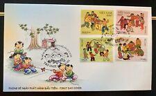 Vietnam 2020 Traditional Children's Folk Games Set Of 4 Stamps Vn #1122 Mint Fdc