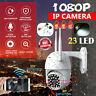 5MP HD Caméra IP CCTV Étanche Extérieure WiFi PTZ Sécurité Extérieure IR 23 LED