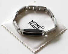 MONTBLANC BANGLE BRACELET IN STAINLESS STEEL WITH RUBBER INLAY - NEW OLD STOCK