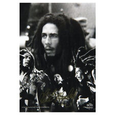 """Authentic BOB MARLEY BW Collage Fabric Poster Flag 30"""" x 40"""" NEW"""