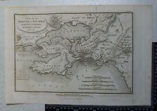 1817 Barbie du Bocage Plan of the Battle of Salamis Greece - Anacharsis
