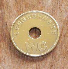 "Jeton monnaie no caddie  de WC  "" t Perronneke "" brasserie à Hulst pays bas"