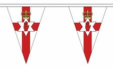More details for northern ireland 20 metre triangle bunting 30 flags flag 54 flags irish