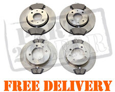 VOLVO S40 / V40 1995-2003 FRONT & REAR BRAKE DISCS AND PADS 1.6 1.8 1.9 2.0