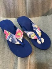 3ac76ab5963b0 Flip Flop Tongs Pretty Florals Wedge  NEW  Large 9-10 2 1