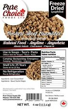 Freeze Drive Ground Beef Crumble - Made in Canada - Ships from Canada