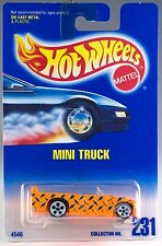 Hot Wheels No. 231 Mini Truck Orange w/White 5DOT's MOC 1996