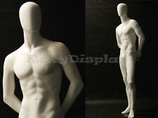 Male Fiberglass Egg Head Mannequin Dress Form Display #Md-C29W2