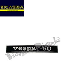 """4194 - TARGHETTA TELAIO POSTERIORE """" VESPA 50 """" N R L SPECIAL - BICASBIA"""