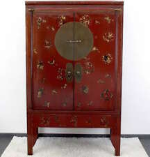 Chinese Wedding Cabinet Red (175cm) Painted Wardrobe China AsienLifeStyle