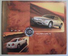 Oldsmobile Aurora Orig 2001 USA MKT 16pp CATÁLOGO FOLLETO de ventas