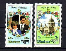 Bhutan Michelnummer 756 + 759 postfrisch (Royal Wedding 2)