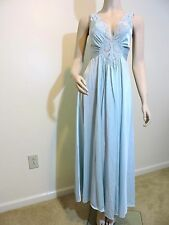 VTG Olga Seaform Blue Long Nightgown Gown, #92280. Size M