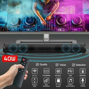 Bluetooth Sound Bar Speaker 3D Mic Stereo System TV Home Theater LG Samsung Sony
