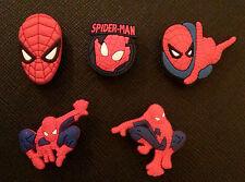5 X Spiderman encantos del zapato Para Crocs Jibbitz