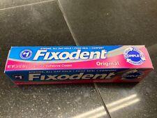Fixodent denture adhesive cream.