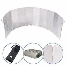 Foldable Camping Wind Screen - Prevent Your Camp Fire or Stove Ever Blowing Out!