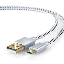 CSL - 2m Micro USB auf USB Kabel mit Metallstecker + Nylonmantel HQ