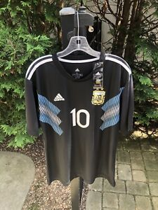 Mens Soccer Jersey Brand New Lionel Messi Argentina Nike Adidas Large With Tags