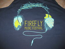 Firefly Music Festival Tank-Top - Navy Blue - Alternative Apparel - NEW L Large