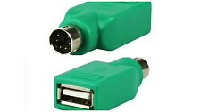 USB A Female to PS/2 Male Pc Keyboard Mouse Converter Connector Adapter Plug 12