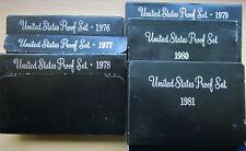 Six Proof Sets: 1976 through 1981