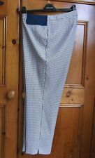 Dorothy Perkins Navy/White Check Maternity Ankle Grazer Trousers UK Size 18 BNWT