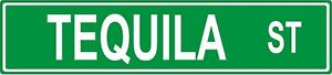 """Tequila Street 18"""" Metal Sign - Game Room Decor Street Sign Replica Metal Sign"""