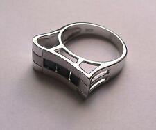 Zircone Cubico Argento Sterling Moderna Anello Misura J