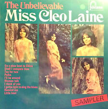 CLEO LAINE LP THE UNBELIEVABLE MISS CLEO LAINE SAMPLER 1968 MADE IN UK