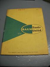 BAUM TOOLS UNLTD. CATALOG VINT. 1960's V.W. PORSCHE  ORIG. CALIF. PUBLICATION !!