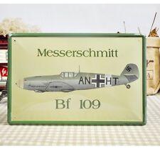 Vintage Tin Sign Wall Decor Retro Metal Art Bar Pub Poster Messerschmitt BF 109