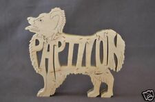Papillon  Dog Wood Amish Made Scroll Saw Toy Puzzle Figurine