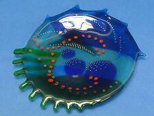 "FABULOUS CAROL LAHY 1991 FUSED GLASS ART 7.5"""