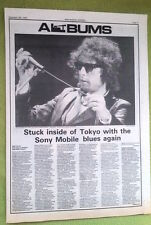 BOB DYLAN Live At Budokan album review 1978 UK ARTICLE / clipping