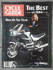 1984 AUGUST CYCLE GUIDE MOTORCYCLE MAGAZINE BMW SILVER BULLET MOTOX HONDA GPZ