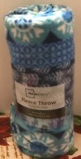 WMS Medallion Blue Throw Blanket 50in x 60in New and Factory Sealed Free Shippin