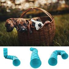 Pet Blue Tunnel Dog Agility Obedience Training 550cm Length Play Tent House
