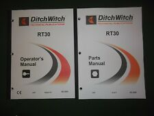 Ditch Witch Rt30 Trencher Operators Operation Maintenance Parts Manual Book