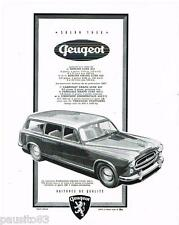 PUBLICITE ADVERTISING 105  1956  PEUGEOT   la berline 203 GRAND LUXE