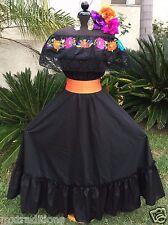 Mexican Dress Fiesta,5 De Mayo,Day of  the Dead 2 Piece.Vestido Fiesta Mexicana