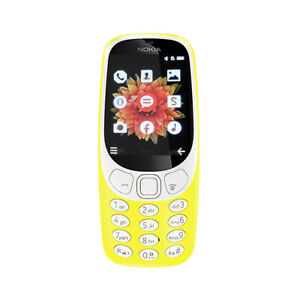 Nokia 3310 3G Mobile Cell Phone Bright Yellow Button Basic Camera UK Unlocked