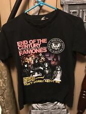 Vintage Rare Ramones End Of The Century T Shirt Medium Double Sided