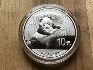 2014 China Silver Panda 1 Ounce Coin In Original Mint Capsule