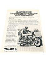 1972 Yamaha XS2 Motorcycle Bike Vintage Advertisement Print Ad J416